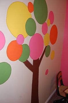 this would be cute if each of the balls on the tree were dry erase!! could serve so many purposes!