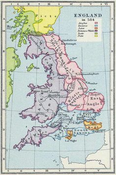Early Anglo-Saxon Kingdoms — Dark Ages Kingdoms of Anglo-Saxons History Of England, Uk History, European History, British History, American History, Family History, Anglo Saxon History, Ancient History, Ancient Aliens