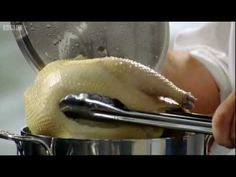 ▶ Heston's Perfect Crispy Roast Chicken - part 1 - BBC - YouTube (www.ChefBrandy.com)