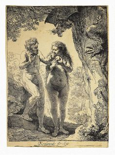 Rembrandt - Adam and Eve [1638]