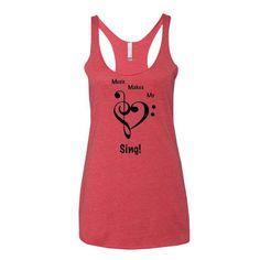 Music Makes My Heart Sing Women's tank top