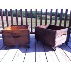 Storage boxes made of old bee hive boxes!