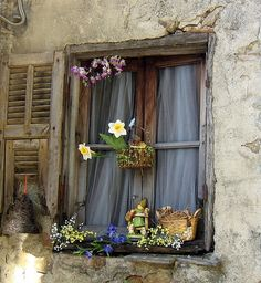 Sweet window in Apricale by Elda | Apricale is a municipality in the Province of Imperia in the Italian region Liguria