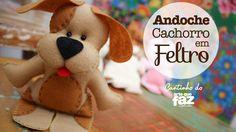 Andoche Cachorro em Feltro - Por Fabíola Salgado