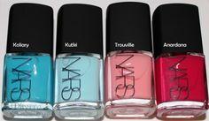 Thakoon for NARS Nail Collection in Koliary, Kutki, Trouville and Anardana Nars Nail Polish, Duochrome Eyeshadow, Bold Lipstick, Hooded Eye Makeup, Blog Love, Get Nails, Makes You Beautiful, Beauty Review, Rainbow Hair