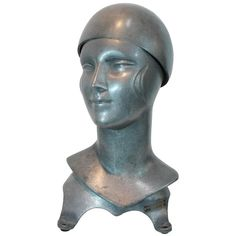 Art Deco Felt Hat Makers Form | From a unique collection of antique and modern sculptures at https://www.1stdibs.com/furniture/decorative-objects/sculptures/