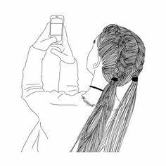 Stick figure, black and white, HD Wallpaper Tumblr Girl Drawing, Tumblr Drawings, Tumblr Art, Girly Drawings, Tumblr Outline, Outline Art, Outline Drawings, Amazing Drawings, Cool Drawings