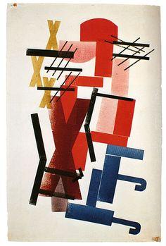 H.N. Werkman, Kompositie met letters X (1927)