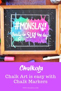 Chalk Art is SO much easier with chalk markers! And Chalkola.com has the best ones! Chalk Fonts, Chalk Lettering, Window Markers, Chalk Markers, Better One, Art Crafts, Chalk Art, Pens, Gift Guide