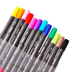 Signme Watercolour Brush Markers 18 colours – The White Pad Watercolor Brushes, Watercolour, Brush Markers, Craft Organization, Chameleon, Art Supplies, Beautiful Flowers, Coloring Pages, Stationery