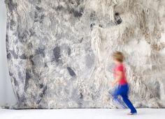 Art and Architecture The Soft World - felt design.  Felt wall hanging