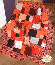 """Oregon State Beavers quilt kit. Made from the Swirly Girls Design """"Perfect Ten"""" pattern on bellarosequilts.com. #Oregonstate #gobeavers #quilts"""