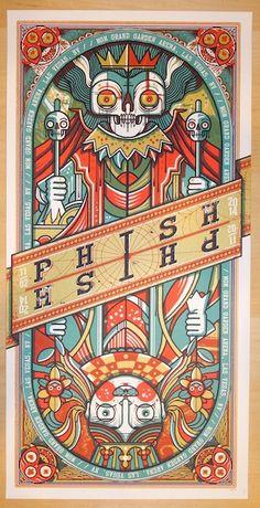 2014 Phish - Las Vegas III Silkscreen Concert Poster by Drew Millward