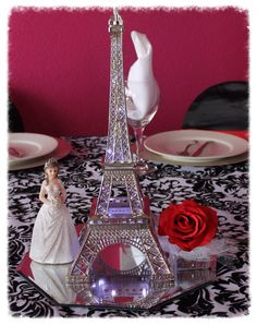 Paris Centerpiece LIght Up Eiffel Tower by ItsMy15Party on Etsy