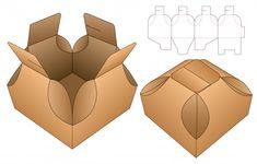 Box template die cut Vectors, Photos and PSD files Packaging Nets, Box Packaging, Diy Gift Box, Diy Box, Creative Box, Box Patterns, Paper Crafts Origami, Grafik Design, Packaging Design Inspiration