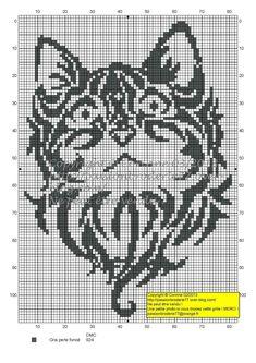 chat - cat - broderie - cross stitch - Tatoo - Point de croix - Blog…