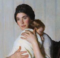 """Marie Danforth Page, """"The Mother"""", detail.  Such a cute little baby."""