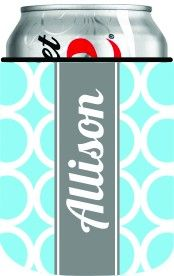 Clairebella Personalized Koozie - Can - Hoopla Blue ($16.00)