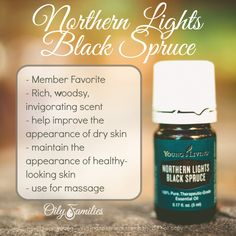 Northern Lights Black Spruce Essential Oil - Help improve the appearance of dry skin and maintain the appearance of healthy-looking skin.