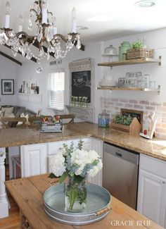 Gracie Blue : Spring Home Tour {White Kitchen Reveal}