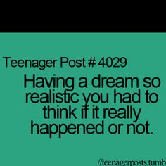 I've been mad at people in real life to get over things they've done to me in dreams before. Hahahah.