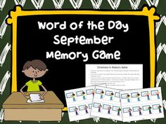 FREE for a limited time! This fun word game reinforces September words from our September Word of the Day Calendar and ELA books.
