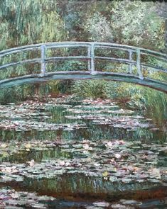 Bridge over a Pond of Water Lilies By: Claude Monet