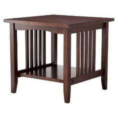 mission coffee table espresso linon