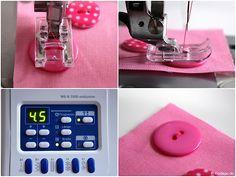 Nähfuß - kunde Knopf annaehen mit der Naehmaschine Knopflochschiene Knopfannähfuß Applikationsfuß 11