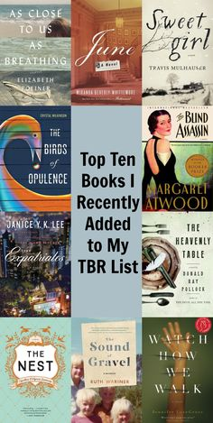 My TBR list is exploding! Here are 10 recent additions, most of which are 2016 releases.