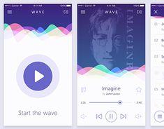 Confira este projeto do @Behance: \u201cWave iOS music app concept\u201d https://www.behance.net/gallery/29458421/Wave-iOS-music-app-concept