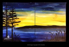Summer Night by the Lake Doubles Painting - Jackie Schon, The Paint Bar