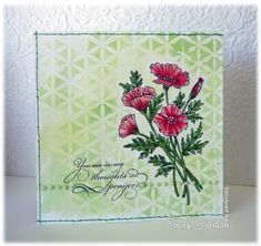 Stencil Kaleidoscope card by Cindy Gilfillan.