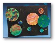 planet collage craft for kids
