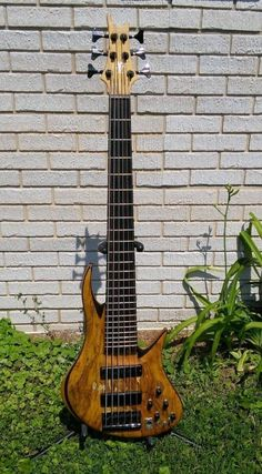 Tung Bass! Rare prototype, spalted maple, Bartolini, 1990's | Reverb