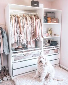 """Jump-Start Your Closet Tidy-Up With the Help of These Jaw-Dropping Wardrobe Pictures You know how the saying goes: """"out of sight, out of mind"""" . and this phrase is particularly true when it comes to our messy closets. Bedroom Closet Design, Closet Designs, Bedroom Decor, Wardrobe Design, Master Bedroom, Wardrobe Room, Wardrobe Closet, Closet Rooms, Ikea Pax Closet"""