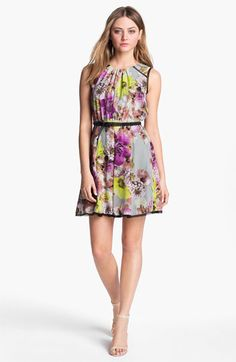 Luncheon or wedding guest dress    LABEL by five twelve Floral Print Fit & Flare Dress available at #Nordstrom