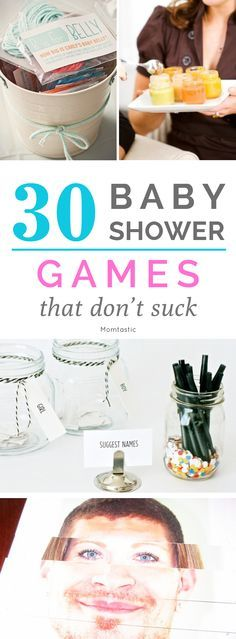 30 baby shower games that don't suck - add these to your planning!