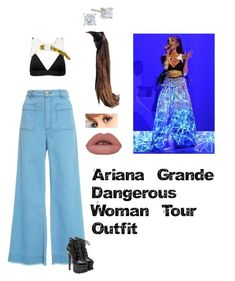 Ariana Grande Dangerous Woman Tour Inspired Outfit by moonlighttae264 on Polyvore featuring moda, Maison Père, Vyayama and Alaïa