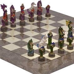 Fantasy Chessmen  Greenwich Street Chess Board From Spain *** Want to know more, click on the image.