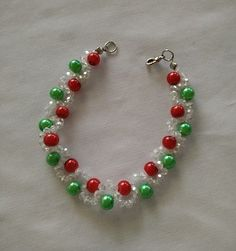 Christmas Bracelet  ~ Seed Bead Tutorials