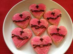 Easy Sacred Heart Cookies