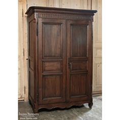 Antique Furniture  | 19th century Country French Walnut Armoire | www.inessa.com