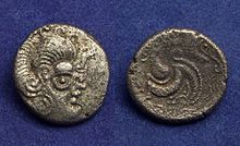 A Celtic stater made from billion alloy found in Armorica