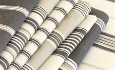 Stratton - Ticking Stripes : Designer Fabrics & Wallcoverings, Upholstery Fabrics