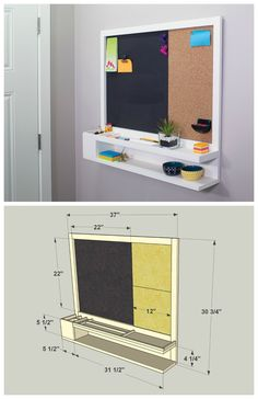 DIY Message Center :: Find the FREE PLANS for this project and many others at buildsomething.com