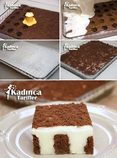 Muhallebi dolgulu kek tarifi nasl yaplr kadnca tarifler the best oreo chocolate cheesecake cake dessert cake recipes Mousse Au Chocolat Torte, Custard Recipes, Custard Filling, Oreo Desserts, Turkish Recipes, Easy Cake Recipes, Desert Recipes, How To Make Cake, Food And Drink