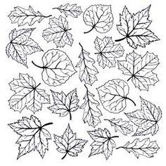 Fall Leaves Black Enamel Decals