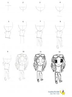 How to darw Chibi?-step-by-step-tutorial Chibi, Have Fun, Drawings, Character, Sketches, Drawing, Portrait, Draw, Lettering