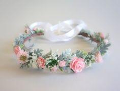 Rosa corona de flores niña de las flores corona corona de